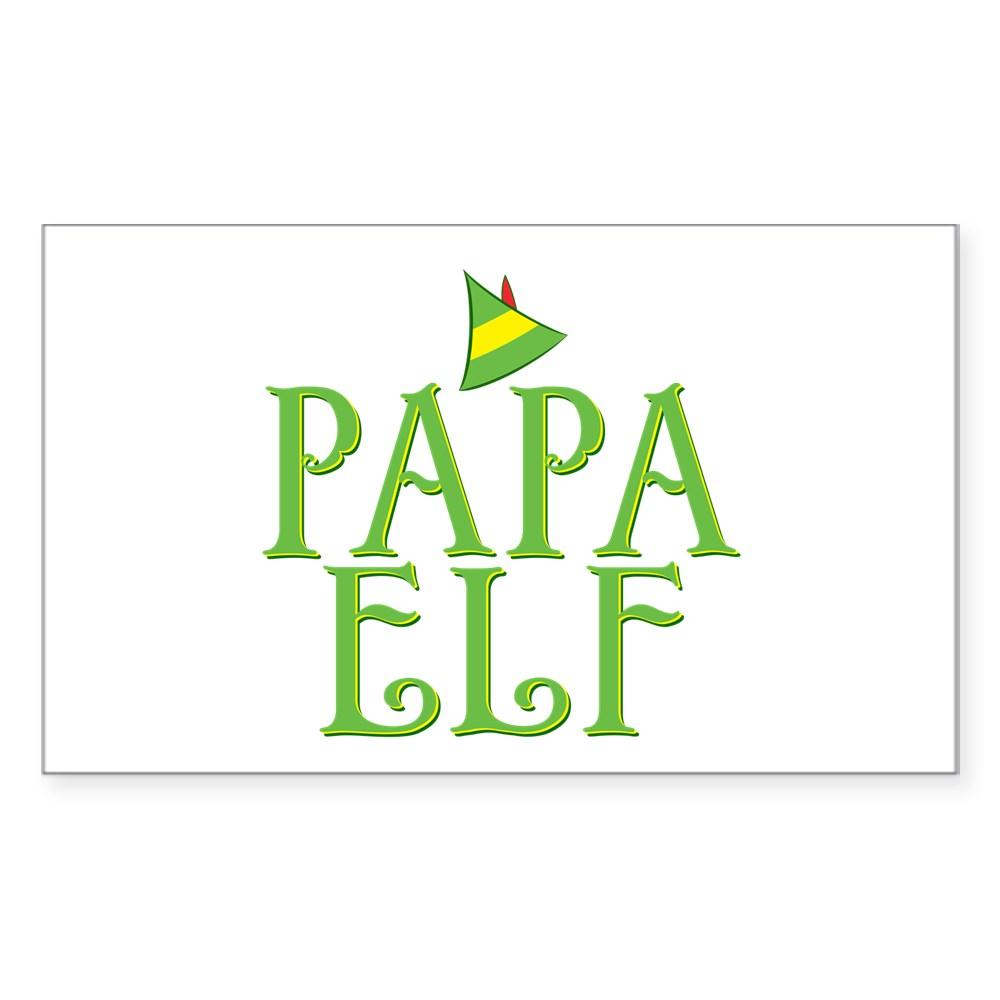 Papa Elf Rectangle Sticker