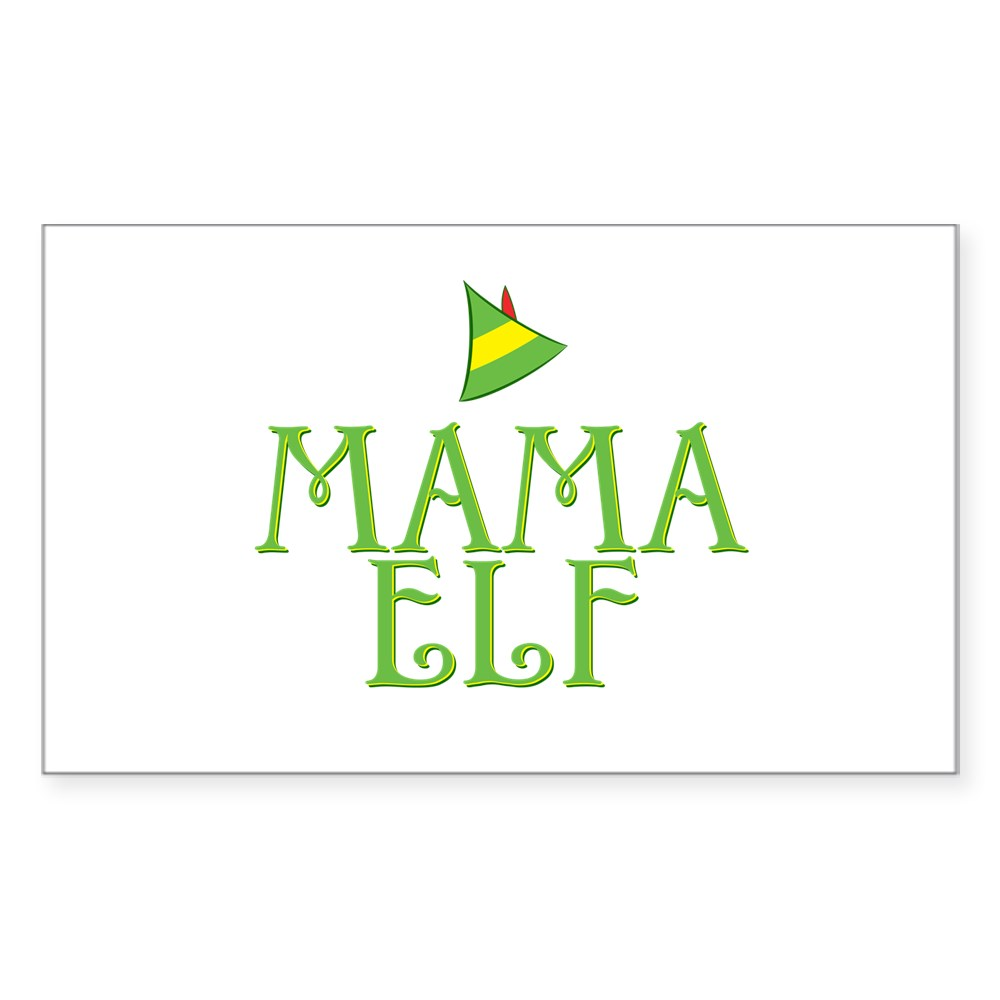 Mama Elf Rectangle Sticker