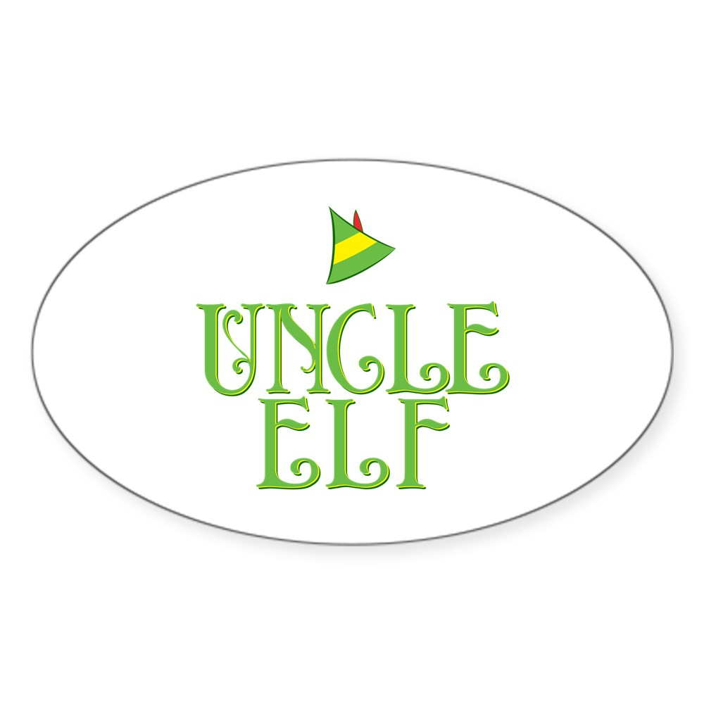 Uncle Elf Oval Sticker