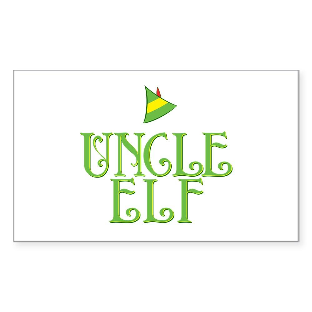 Uncle Elf Rectangle Sticker