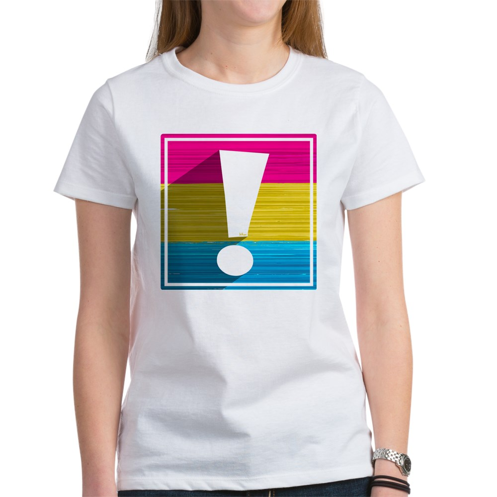 Pansexual Pride Flag Exclamation Point Shadow Women's T-Shirt