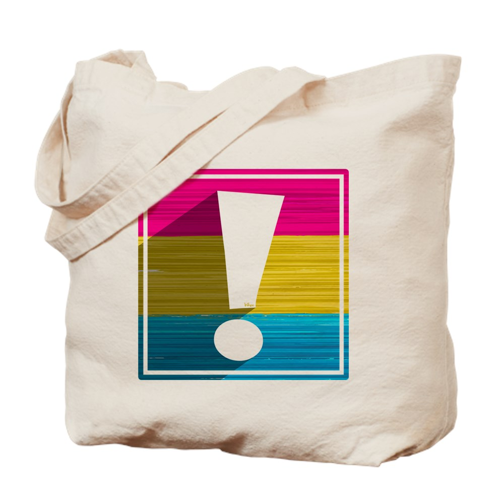 Pansexual Pride Flag Exclamation Point Shadow Tote Bag