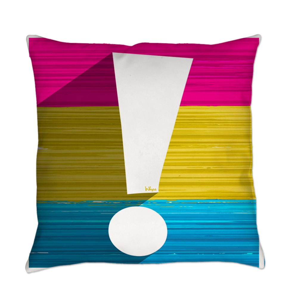 Pansexual Pride Flag Exclamation Point Shadow Everyday Pillow