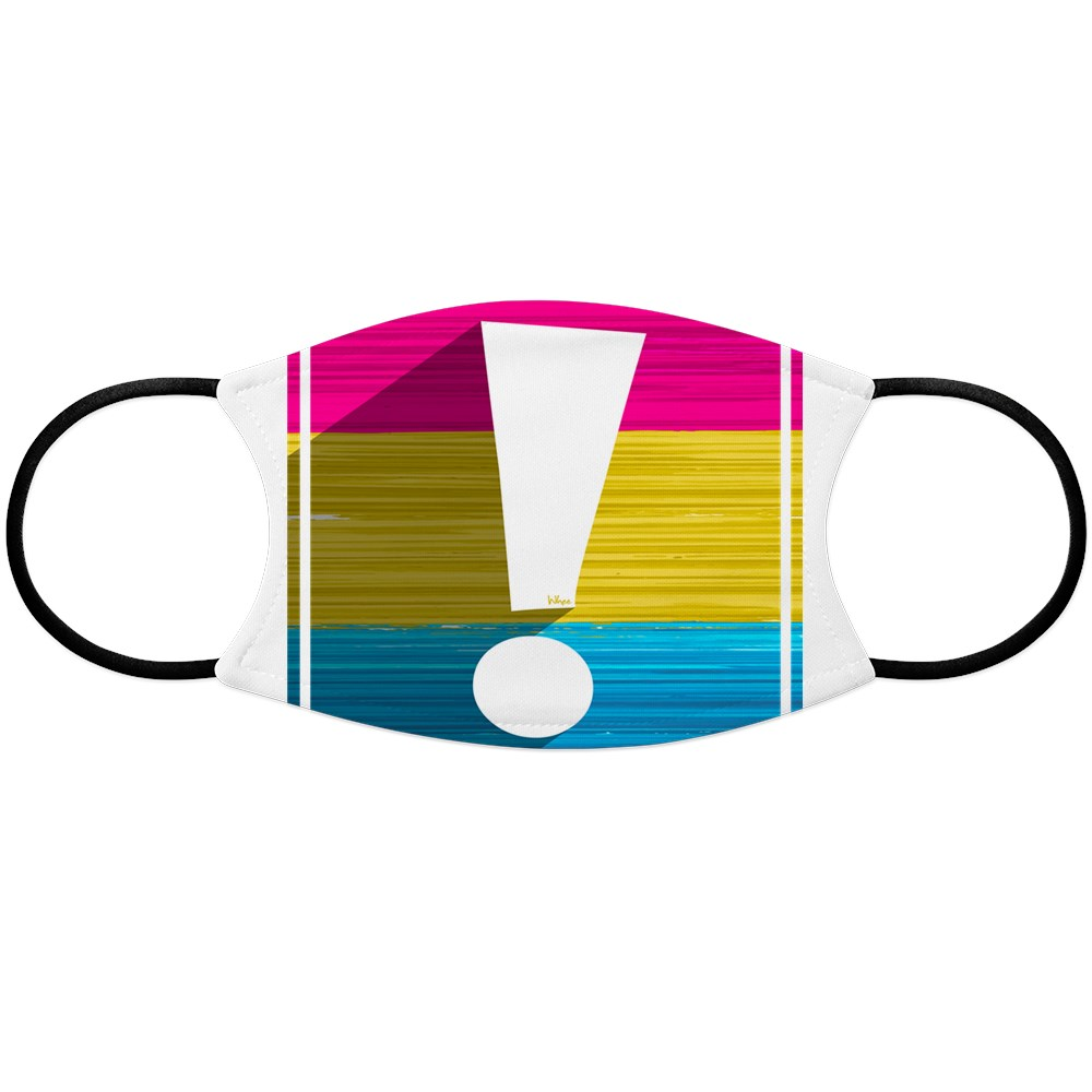 Pansexual Pride Flag Exclamation Point Shadow Face Mask