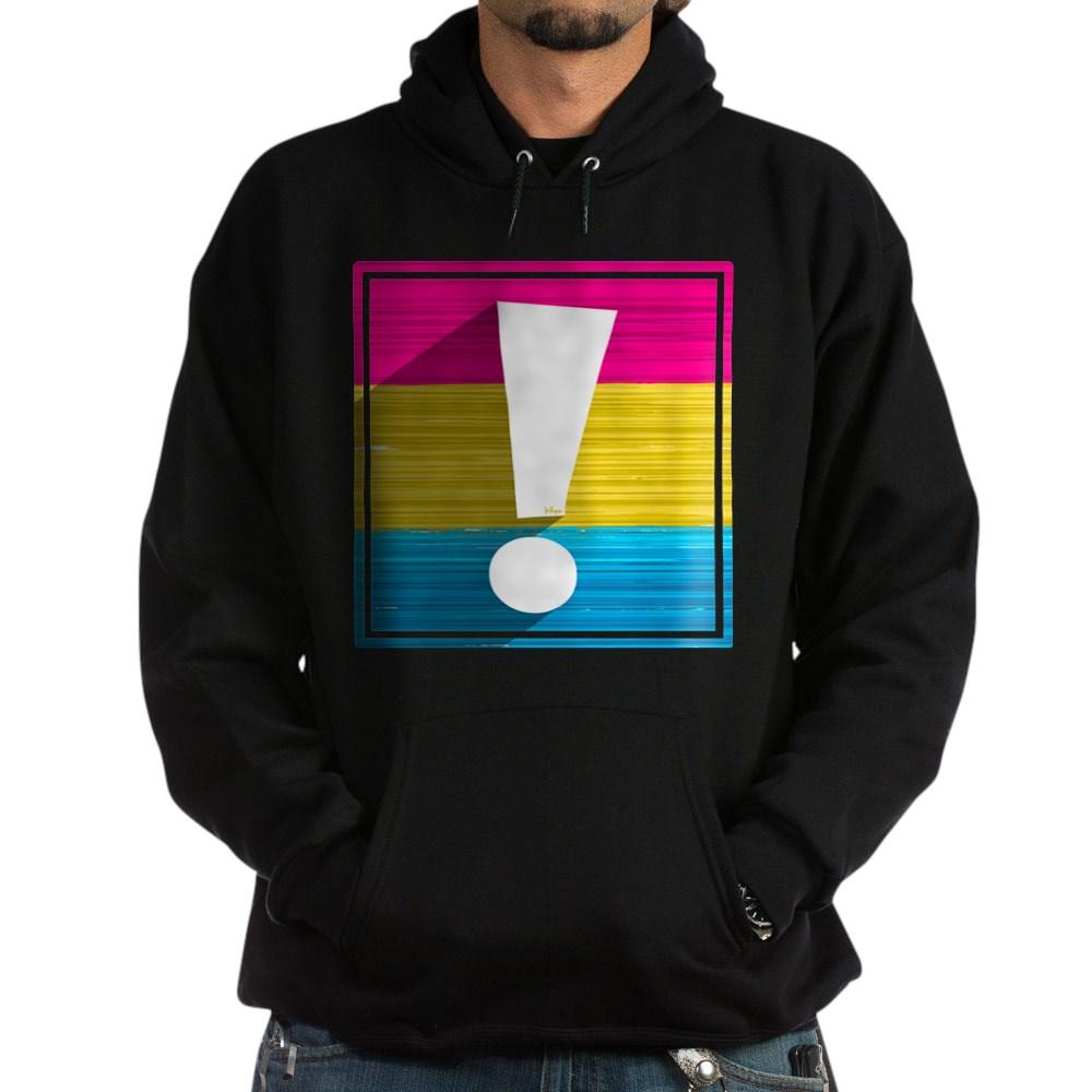 Pansexual Pride Flag Exclamation Point Shadow Dark Hoodie
