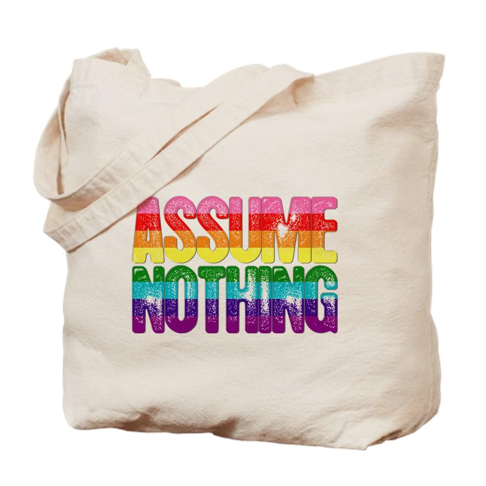 Assume Nothing Original Gilbert Baker LGBTQ Gay Pride Flag Tote Bag