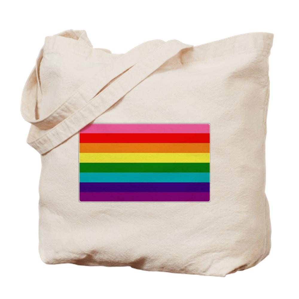 Original Gilbert Baker LGBTQ Rainbow Pride Flag Tote Bag