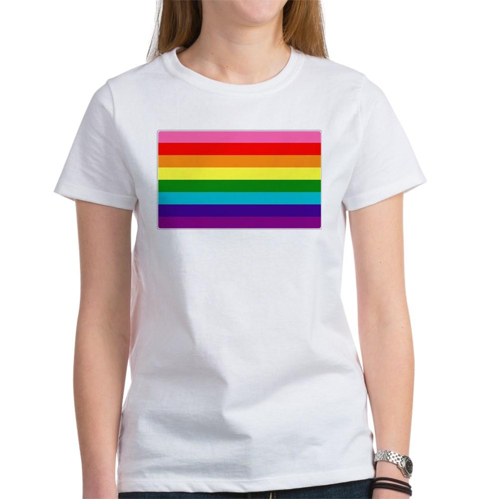 Original Gilbert Baker LGBTQ Rainbow Pride Flag Women's T-Shirt