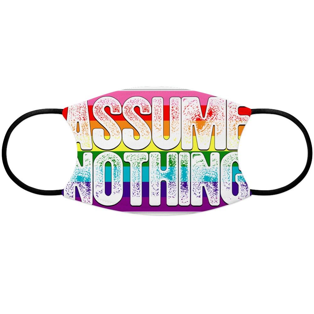 Assume Nothing Gilbert Baker Original LGBTQ Gay Pride Flag Face Mask