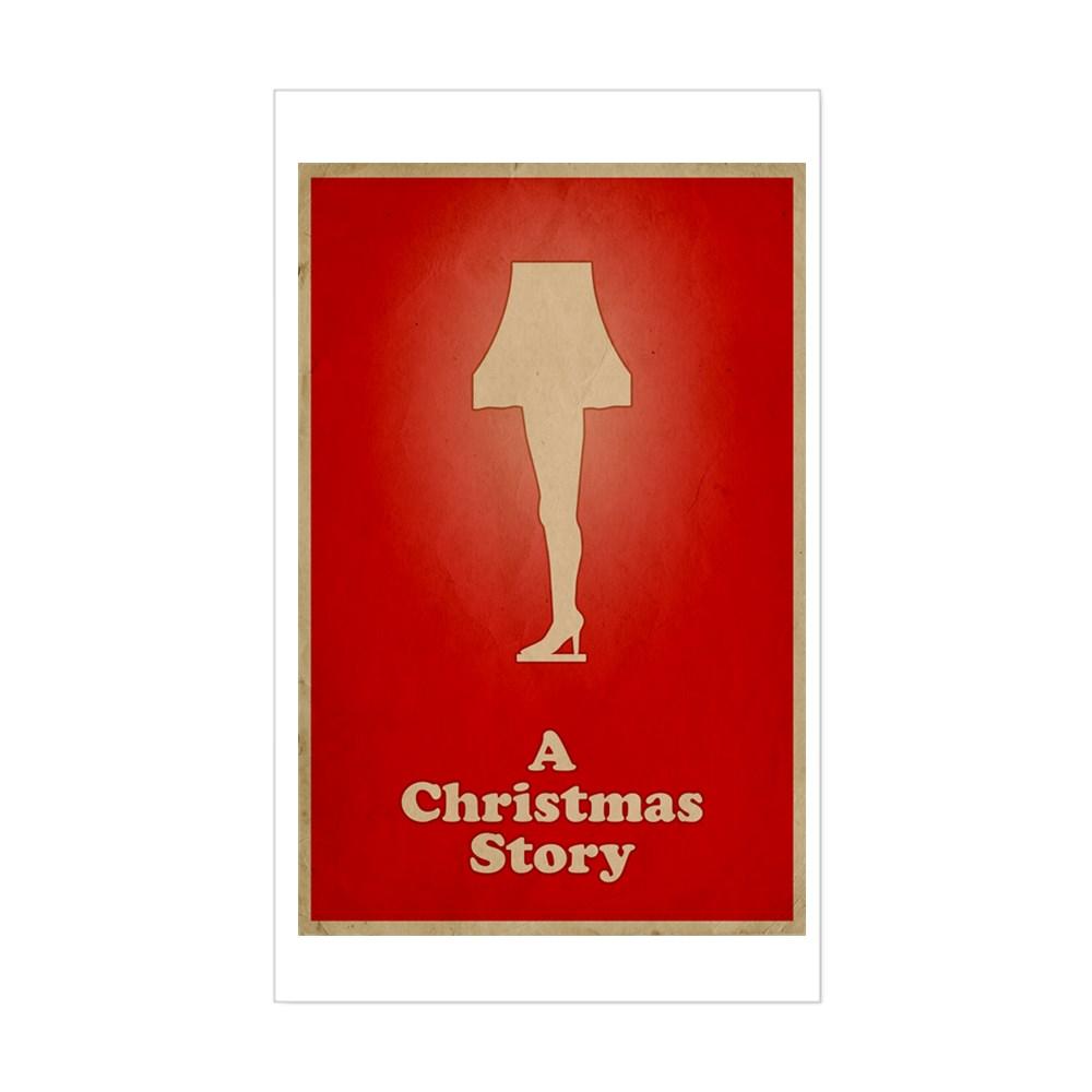 A Christmas Story Minimalist Poster Design  Rectangle Sticker