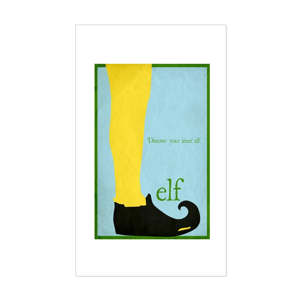 Elf Minimalist Poster Design Rectangle Sticker