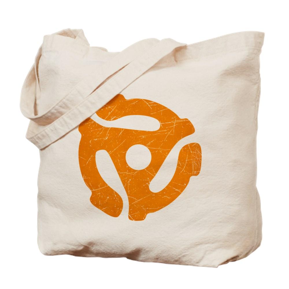Orange Distressed 45 RPM Adapter Tote Bag