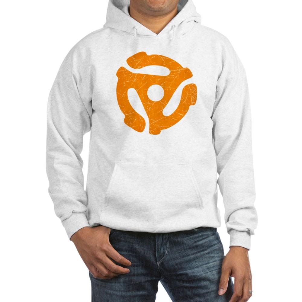 Orange Distressed 45 RPM Adapter Hooded Sweatshirt