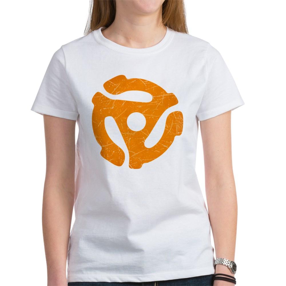 Orange Distressed 45 RPM Adapter Women's T-Shirt