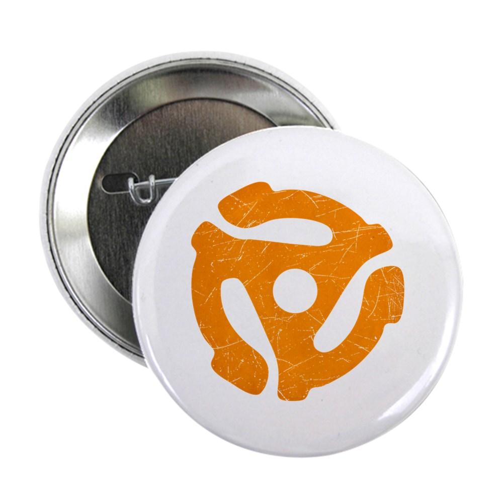 Orange Distressed 45 RPM Adapter 2.25