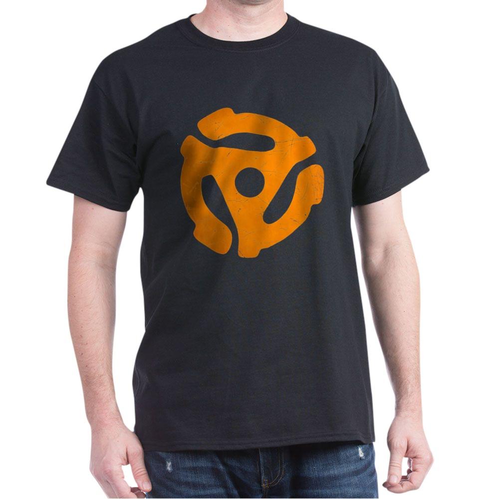 Orange Distressed 45 RPM Adapter Dark T-Shirt