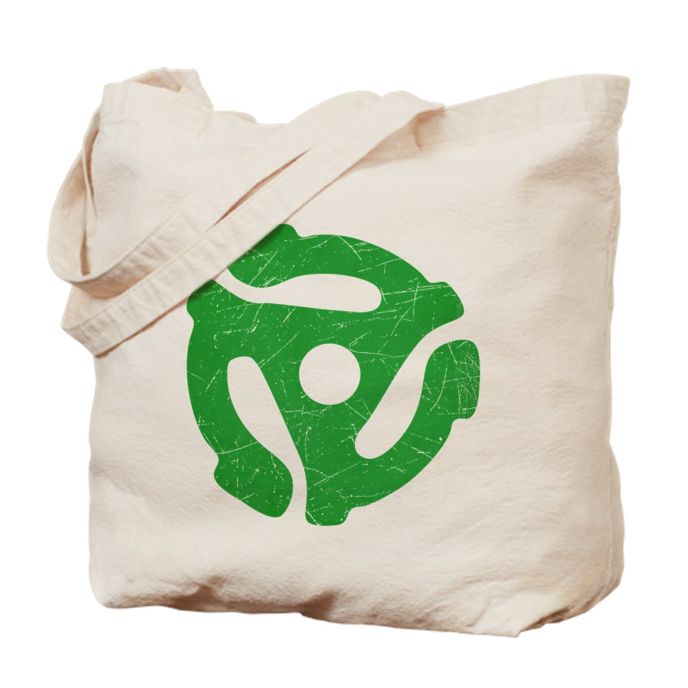 Green Distressed 45 RPM Adapter Tote Bag