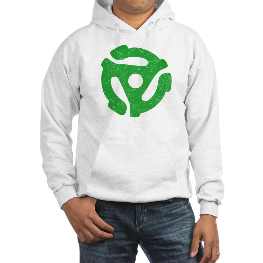 Green Distressed 45 RPM Adapter Hooded Sweatshirt