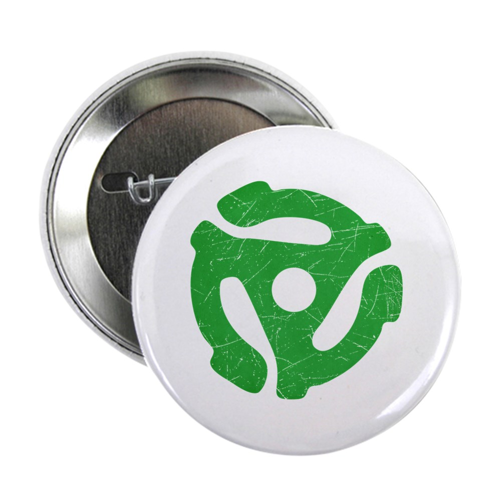 Green Distressed 45 RPM Adapter 2.25