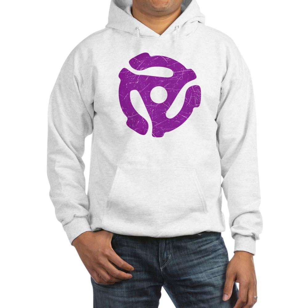 Purple Distressed 45 RPM Adapter Hooded Sweatshirt