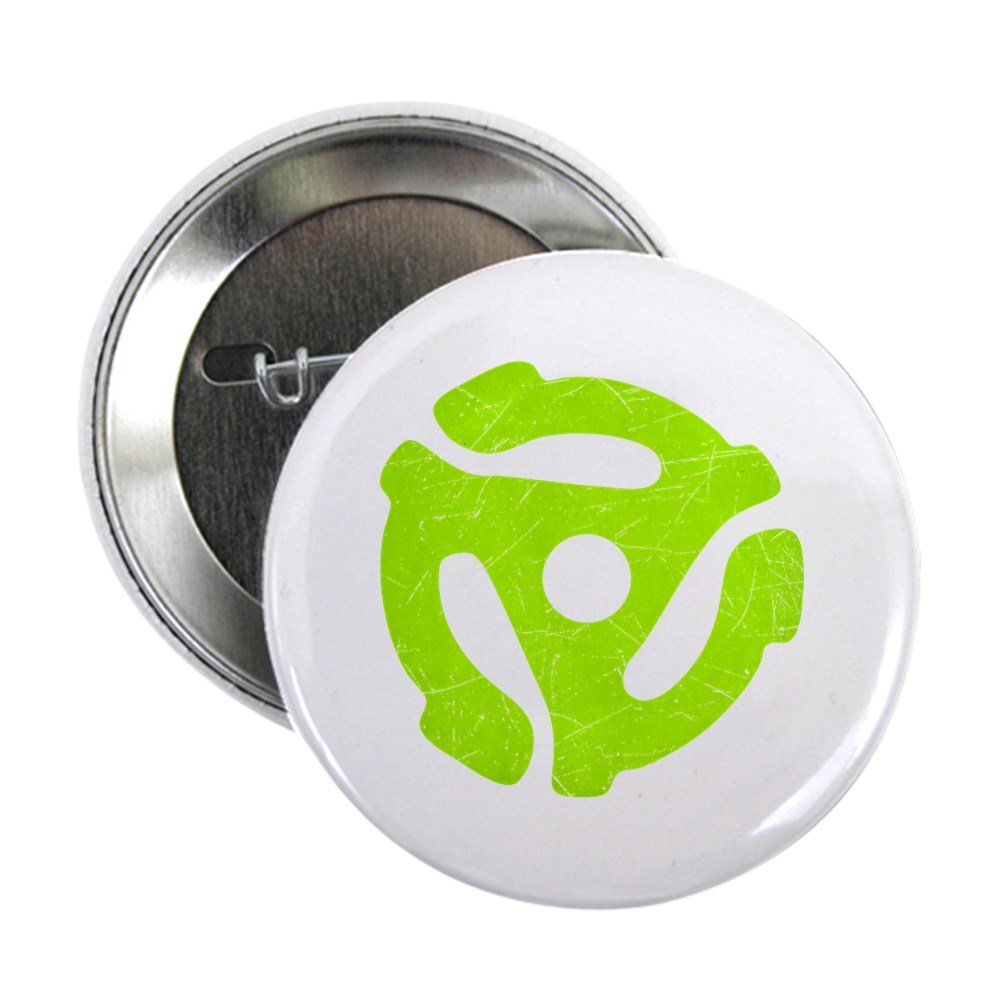 Lime Green Distressed 45 RPM Adapter 2.25