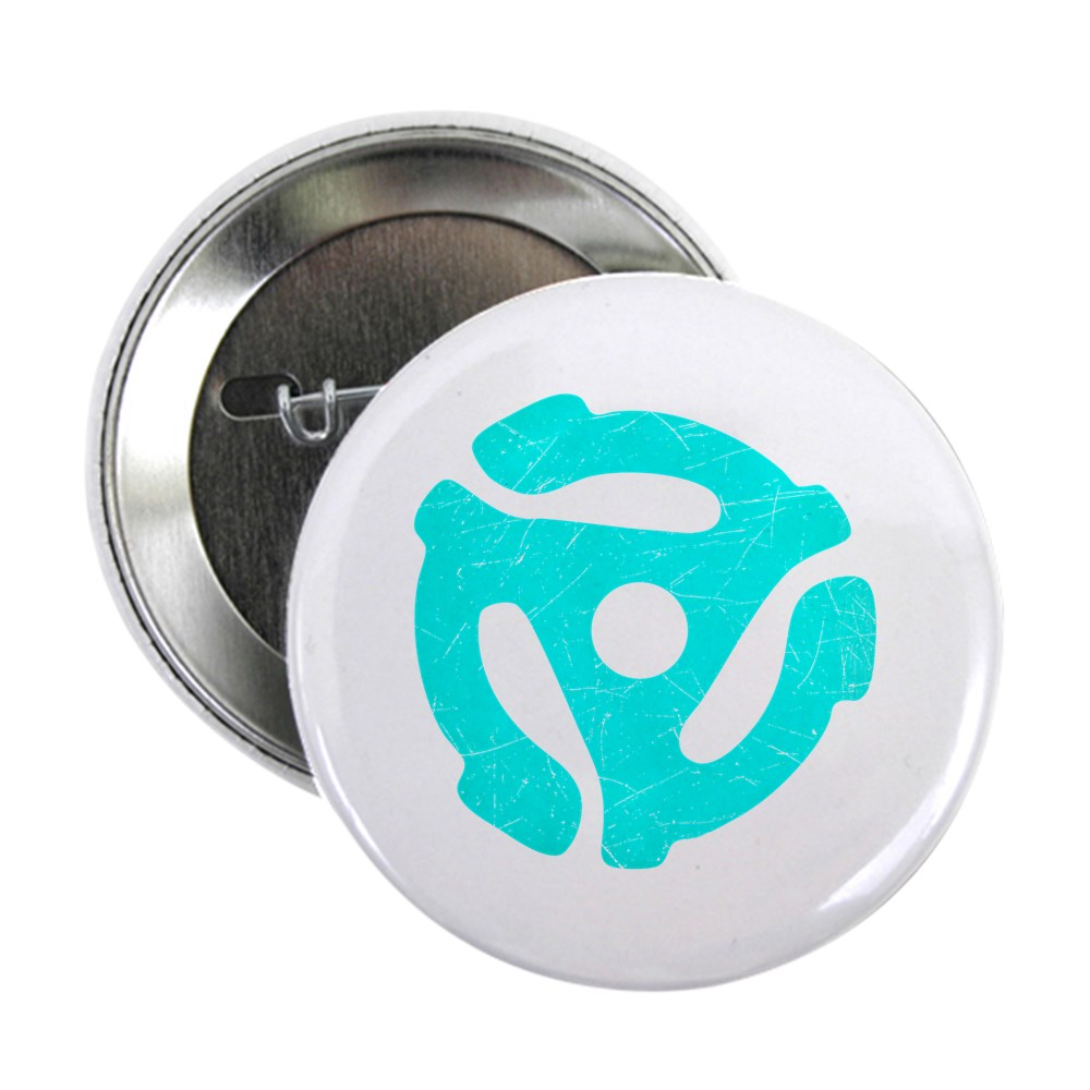 Turquoise  Distressed 45 RPM Adapter 2.25