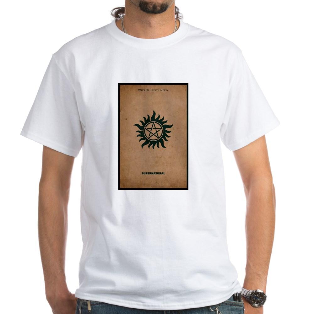 Supernatural MInimalist Poster Design White T-Shirt