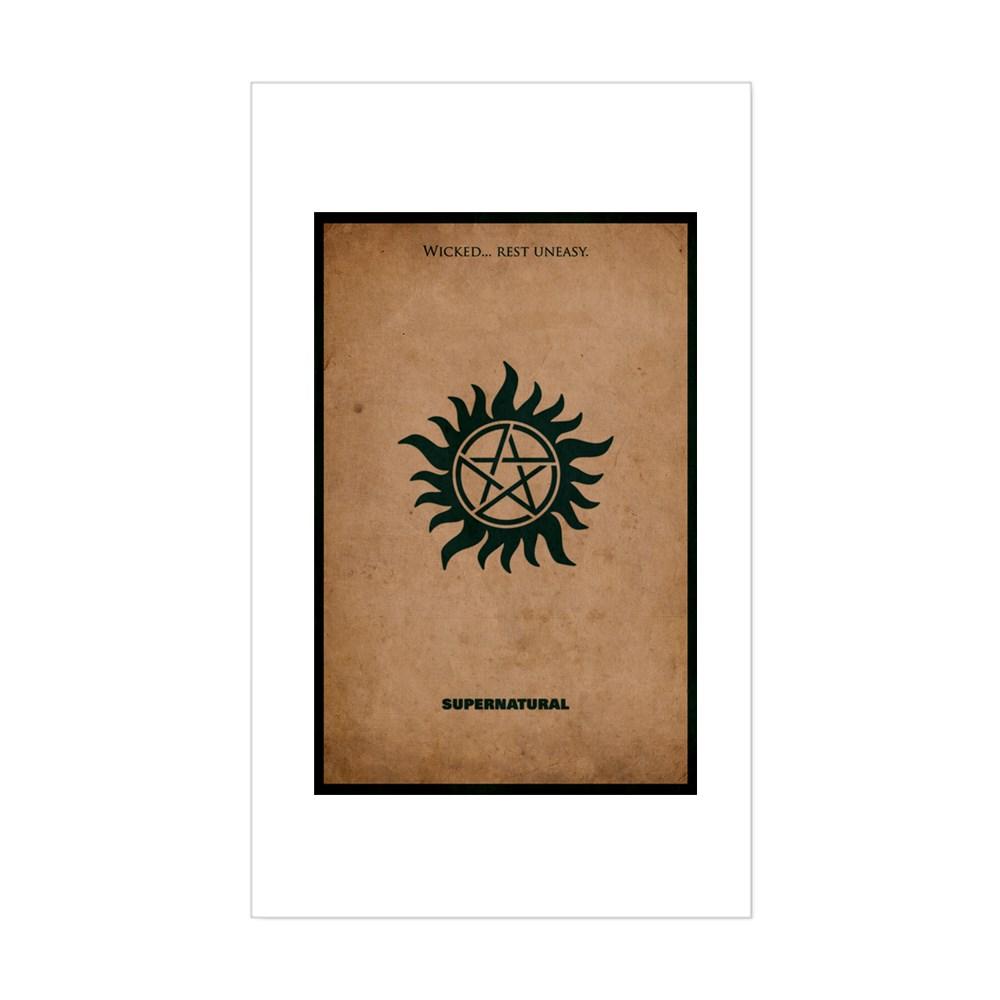 Supernatural MInimalist Poster Design Rectangle Sticker
