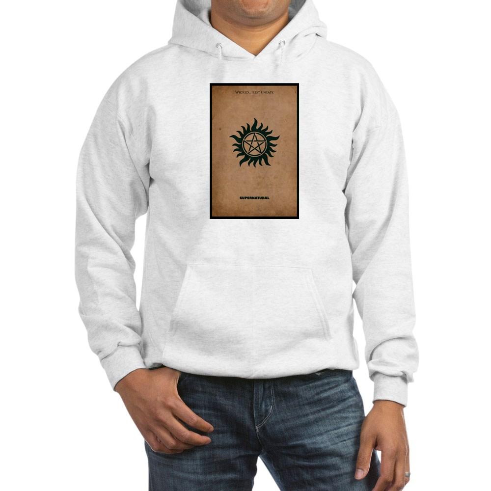 Supernatural MInimalist Poster Design Hooded Sweatshirt