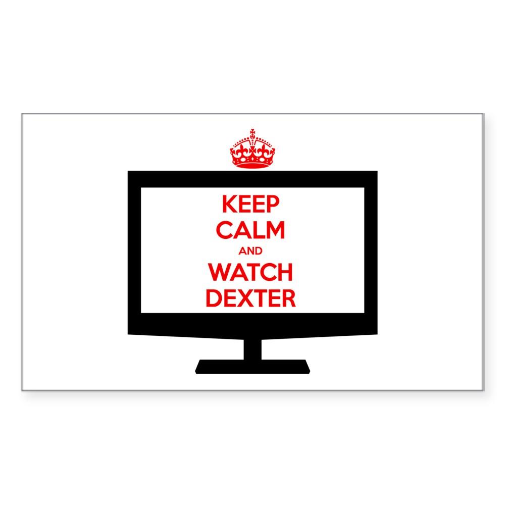 Keep Calm and Watch Dexter Rectangle Sticker
