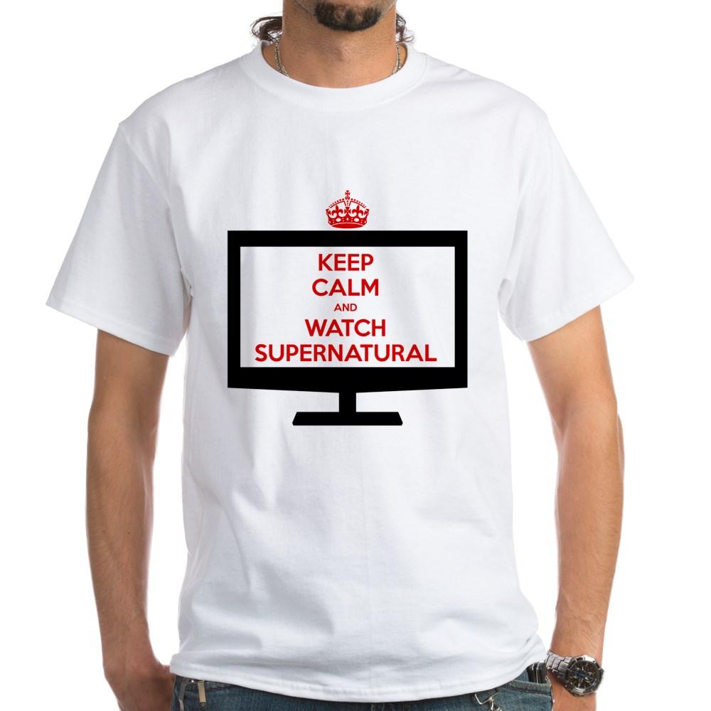 Keep Calm and Watch Supernatural White T-Shirt