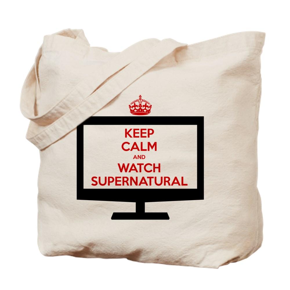 Keep Calm and Watch Supernatural Tote Bag
