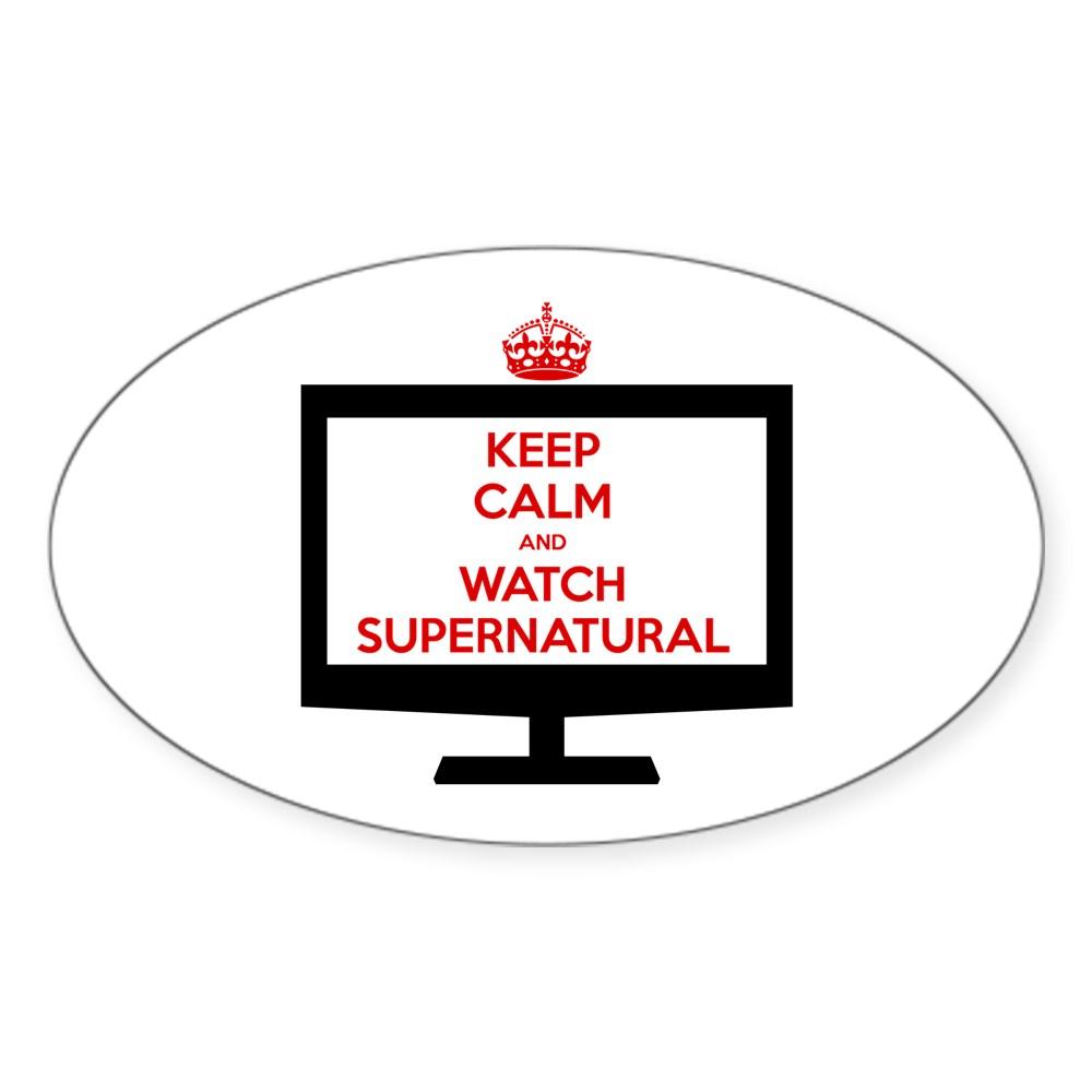 Keep Calm and Watch Supernatural Oval Sticker