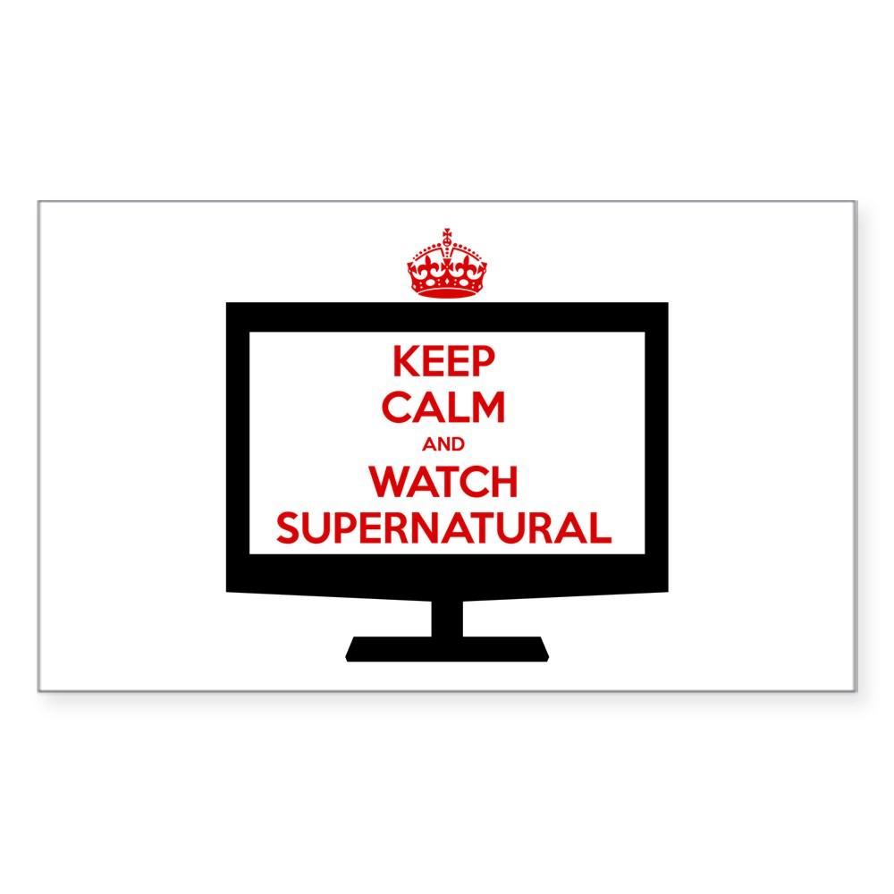 Keep Calm and Watch Supernatural Rectangle Sticker