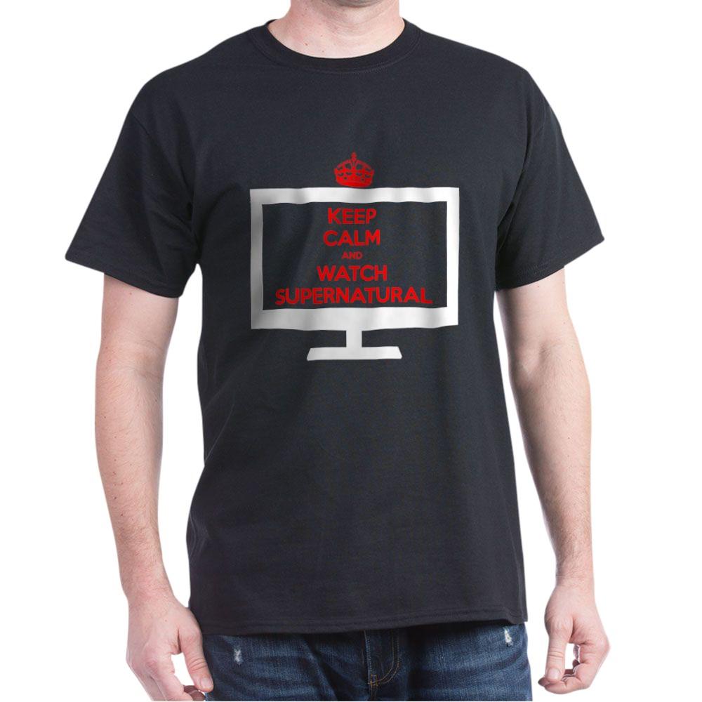 Keep Calm and Watch Supernatural Dark T-Shirt