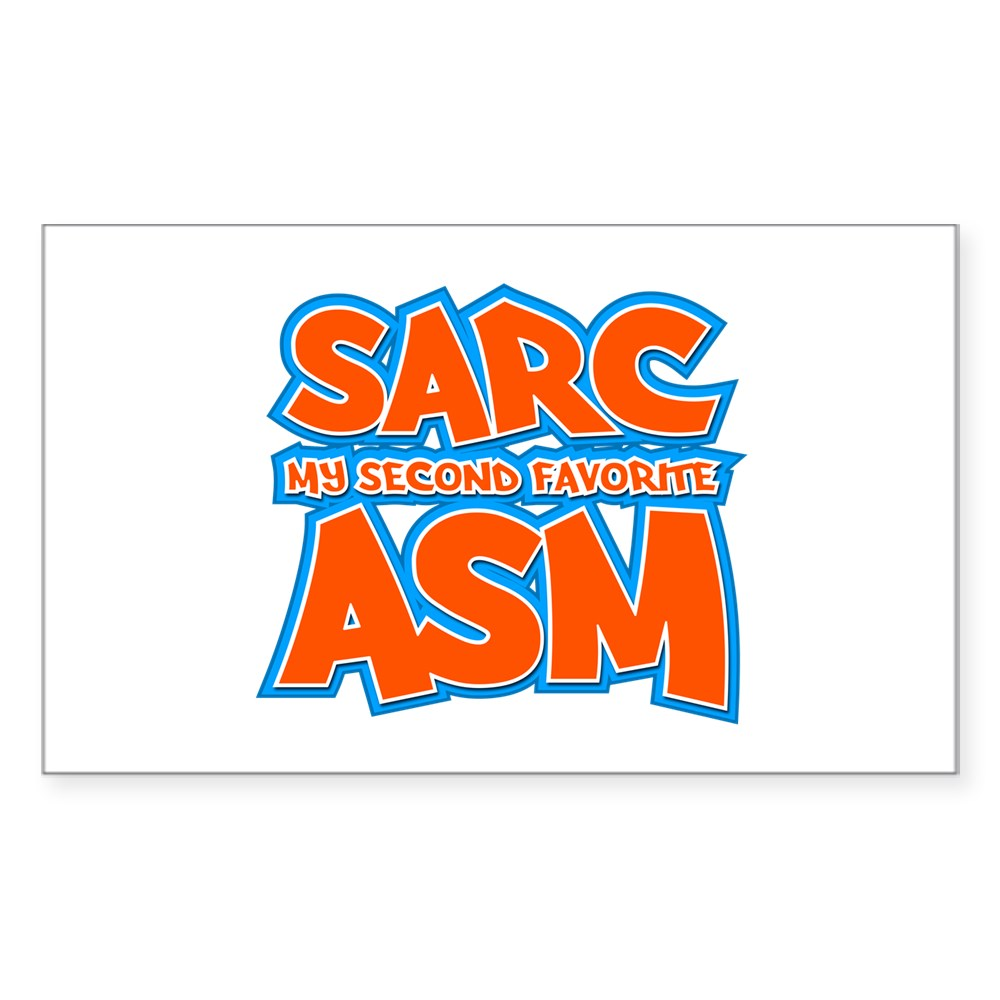 Sarc, My Second Favorite Asm Rectangle Sticker