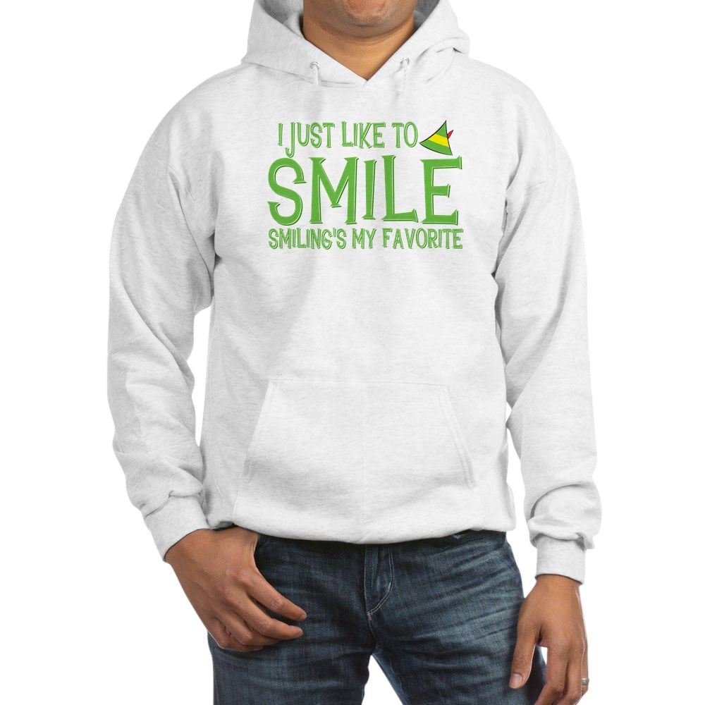 I Just Like to Smile, Smiling's My Favorite Hooded Sweatshirt