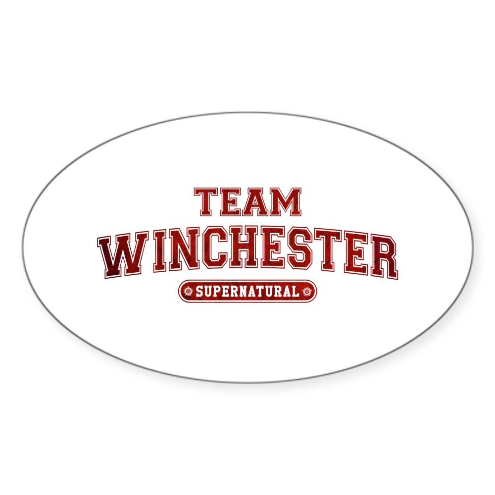 Supernatural Team Winchester Oval Sticker