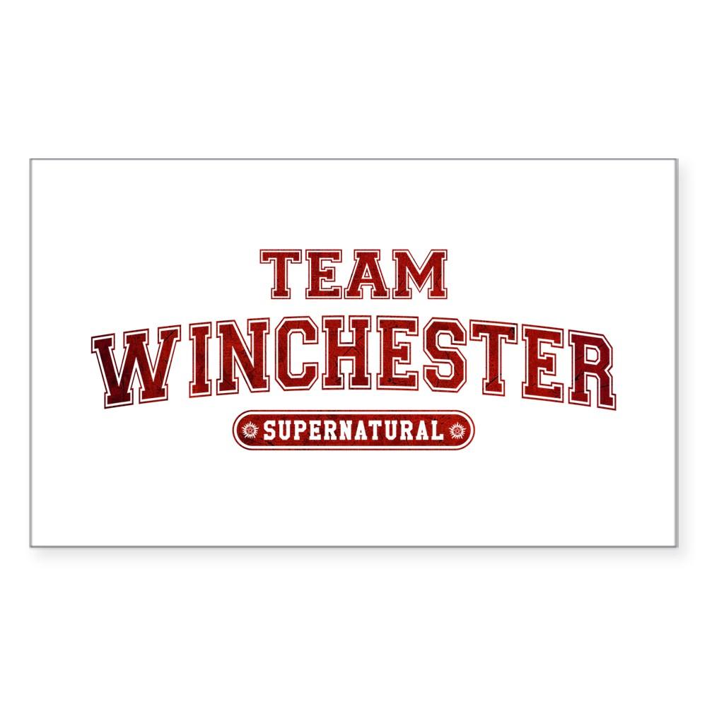 Supernatural Team Winchester Rectangle Sticker