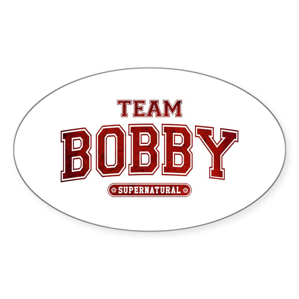 Supernatural Team Bobby Oval Sticker