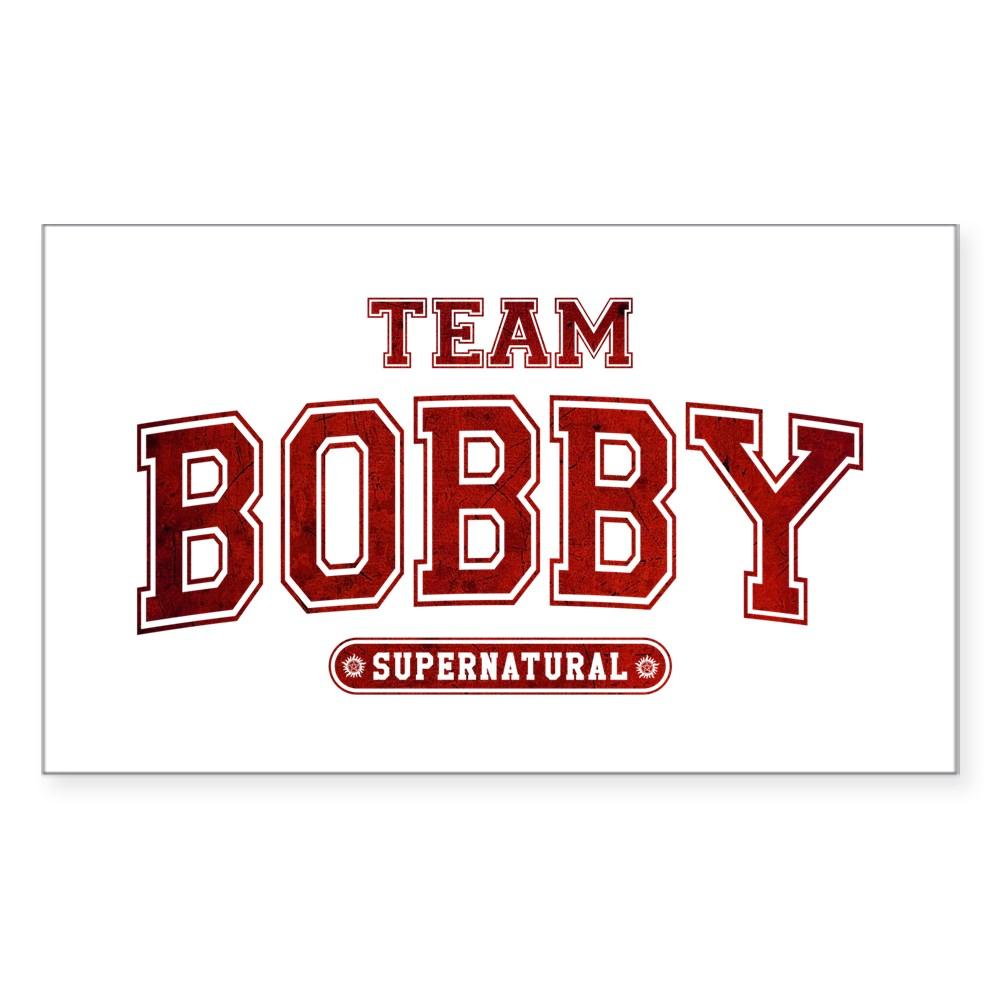 Supernatural Team Bobby Rectangle Sticker