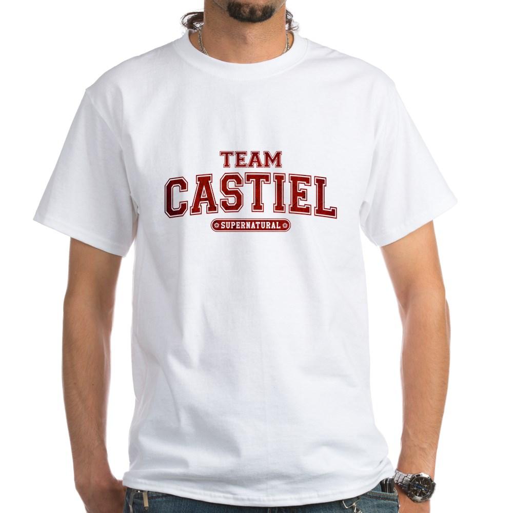 Supernatural Team Castiel White T-Shirt