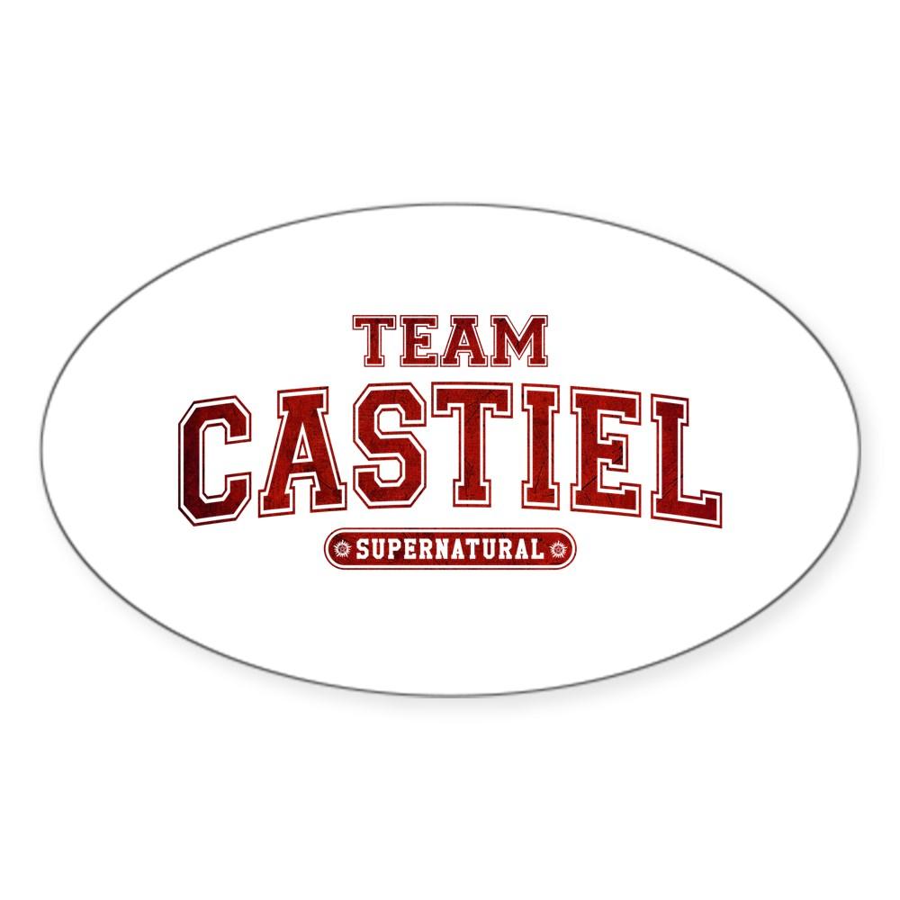 Supernatural Team Castiel Oval Sticker
