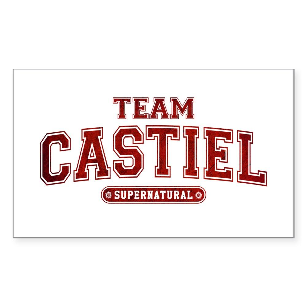 Supernatural Team Castiel Rectangle Sticker