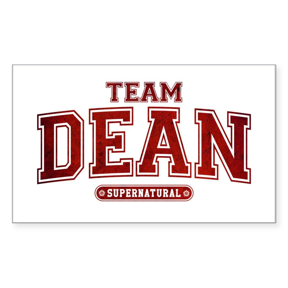 Supernatural Team Dean Rectangle Sticker