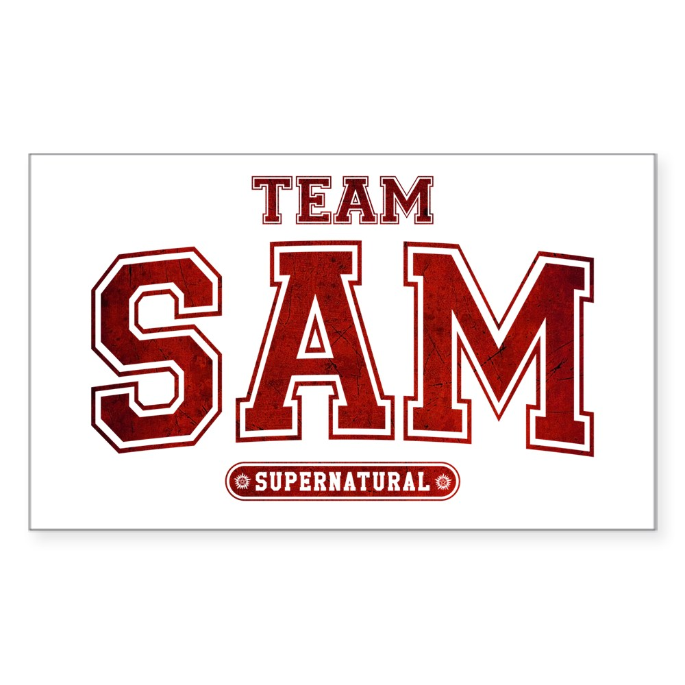 Supernatural Team Sam Rectangle Sticker