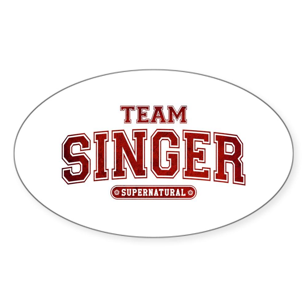 Supernatural Team Singer Oval Sticker