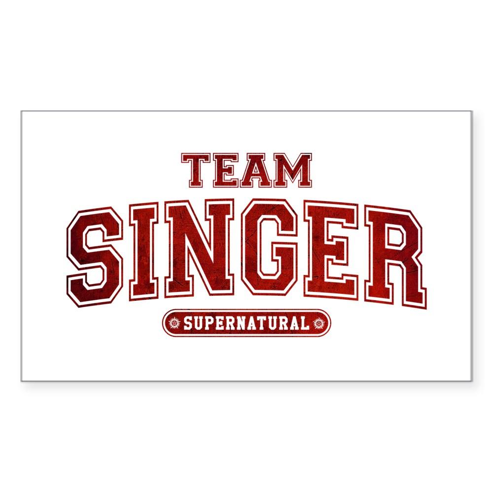 Supernatural Team Singer Rectangle Sticker