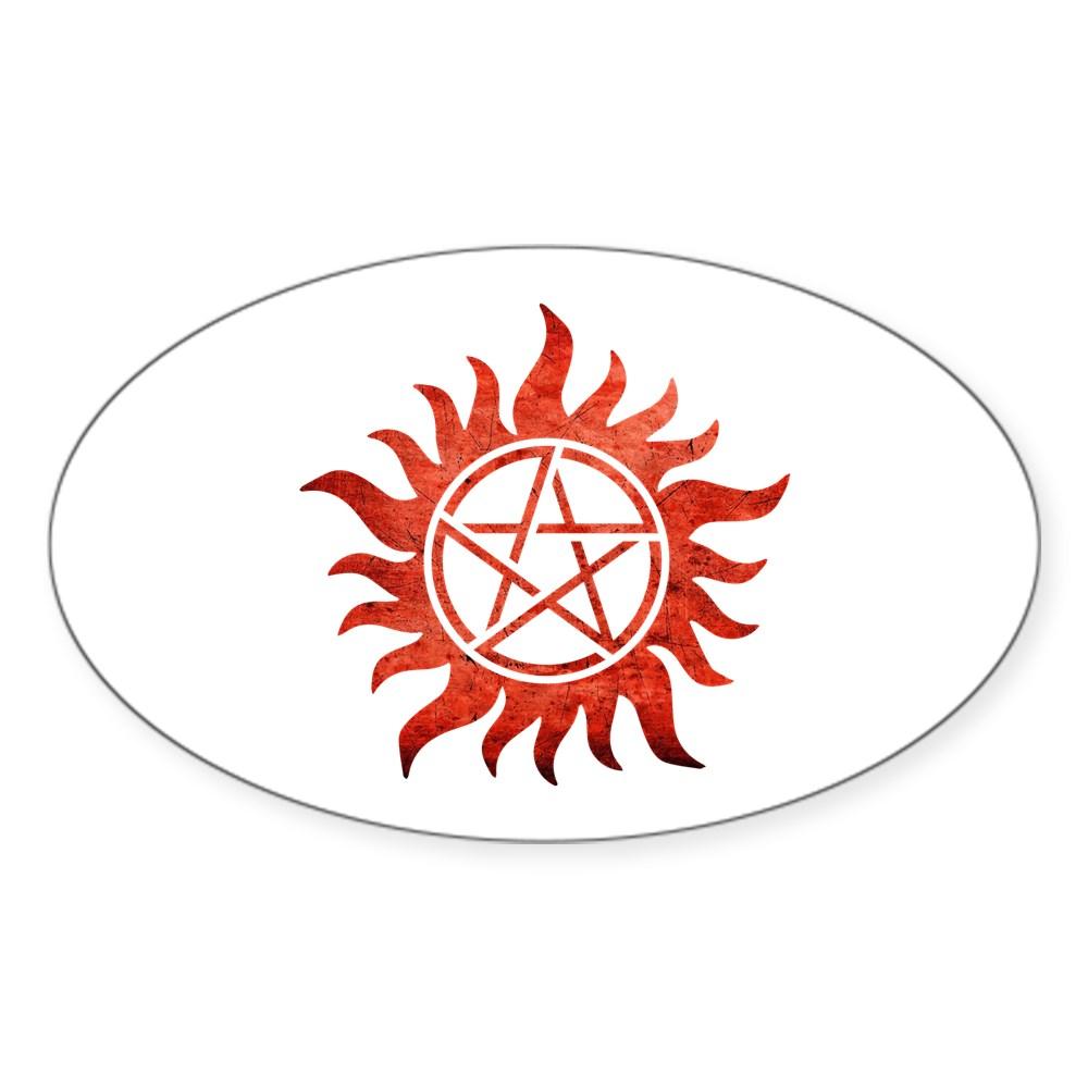 Supernatural Anti-Possession Tattoo Oval Sticker
