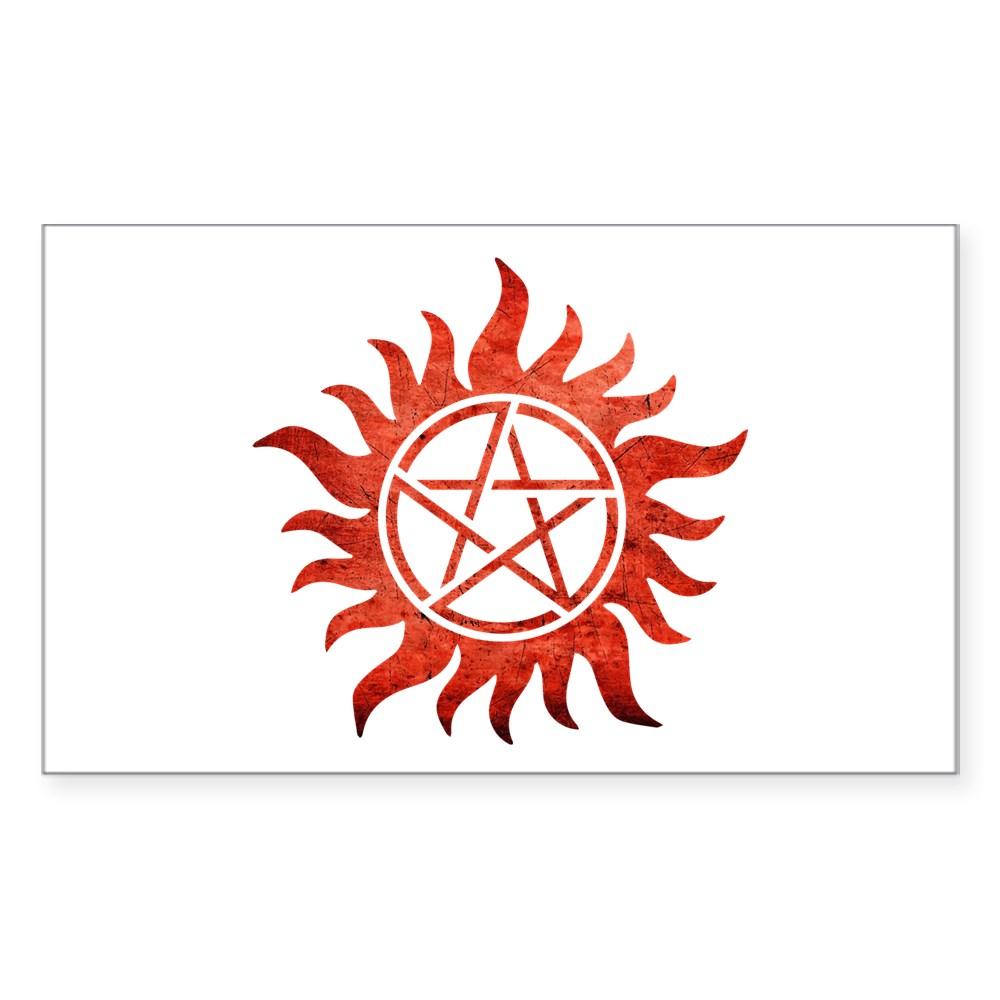 Supernatural Anti-Possession Tattoo Rectangle Sticker